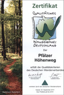 Zertifikat Pfälzer Höhenweg