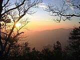 Sonnenuntergang Burgruine
