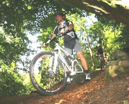 Abfahrt Mountainbike