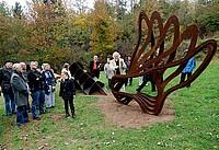 Skulptur Lohnsbachpark mit Künstlern